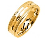 Yellow Gold Fancy Wedding Band 6mm YG-1472