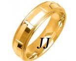 Yellow Gold Fancy Wedding Band 6mm YG-1473