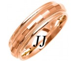 Rose Gold Fancy Wedding Band 6mm RG-1474