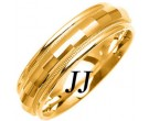 Yellow Gold Fancy Wedding Band 6mm YG-1474