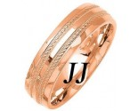 Rose Gold Fancy Wedding Band 6mm RG-1475