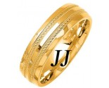 Yellow Gold Fancy Wedding Band 6mm YG-1475