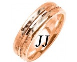 Rose Gold Fancy Wedding Band 6mm RG-1476