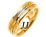 Yellow Gold Fancy Wedding Band 6mm YG-1476