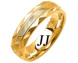 Yellow Gold Fancy Wedding Band 6mm YG-1477