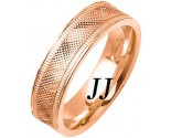 Rose Gold Fancy Wedding Band 6mm RG-1478