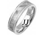 White Gold Fancy Wedding Band 6mm WG-1478