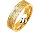 Yellow Gold Fancy Wedding Band 6mm YG-1478
