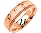 Rose Gold Designer Wedding Band 6.5mm RG-1479