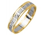 Two Tone Gold Designer Wedding Band 5mm TT-1480