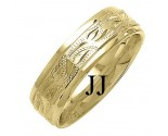 Yellow Gold Designer Wedding Band 7mm YG-1492