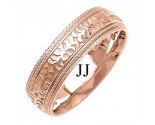 Rose Gold Designer Wedding Band 7mm RG-1493