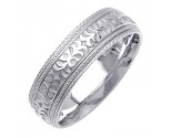 White Gold Designer Wedding Band 7mm WG-1493
