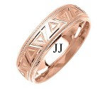 Rose Gold Designer Wedding Band 7mm RG-1494