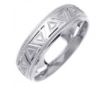 White Gold Designer Wedding Band 7mm WG-1494