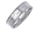 White Gold Designer Wedding Band 7mm WG-1495