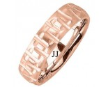 Rose Gold Designer Wedding Band 6mm RG-1497