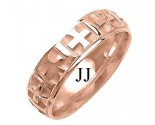Rose Gold Designer Wedding Band 6mm RG-1498