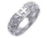 White Gold Designer Wedding Band 6mm WG-1498