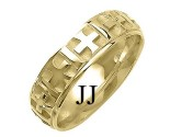 Yellow Gold Designer Wedding Band 6mm YG-1498