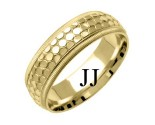 Yellow Gold Designer Wedding Band 6mm YG-1499