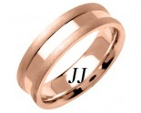Rose Gold Single Blade Wedding Band 6.5mm RG-1551