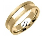 Yellow Gold Single Blade Wedding Band 6.5mm YG-1551