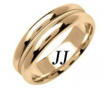 Yellow Gold Single Braid Wedding Band 6.5mm YG-1552