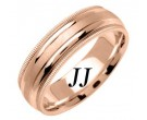 Rose Gold Twin Blade Wedding Band 6.5mm RG-1553