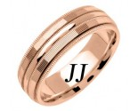 Rose Gold Milgrain Wedding Band 6.5mm RG-1556