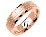 Rose Gold 4-Row Milgrain Wedding Band 7mm RG-1558