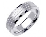 White Gold 4-Row Milgrain Wedding Band 7mm WG-1558