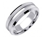 White Gold Dual Dotted Wedding Band 7mm WG-1559