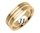 Yellow Gold Dual Blasted Wedding Band 7mm YG-1560