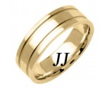 Yellow Gold Dual Line Wedding Band 6.5mm YG-1561
