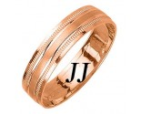 Rose Gold Designer Wedding Band 5mm RG-1575