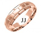 Rose Gold Designer Wedding Band 6mm RG-1577