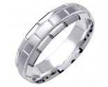White Gold Designer Wedding Band 6mm WG-1577