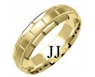 Yellow Gold Designer Wedding Band 6mm YG-1577