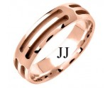 Rose Gold Designer Wedding Band 6mm RG-1578
