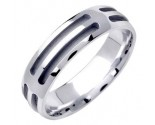 White Gold Designer Wedding Band 6mm WG-1578