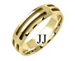 Yellow Gold Designer Wedding Band 6mm YG-1578
