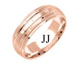 Rose Gold Designer Wedding Band 7mm RG-1579