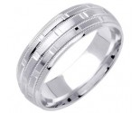 White Gold Designer Wedding Band 7mm WG-1579