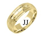 Yellow Gold Designer Wedding Band 7mm YG-1579