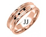 Rose Gold Designer Wedding Band 7mm RG-1580