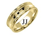 Yellow Gold Designer Wedding Band 7mm YG-1580