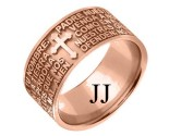 Rose Gold Designer Wedding Band 9mm RG-1583