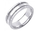 White Gold Designer Wedding Band 7mm WG-1584