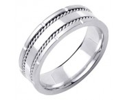 White Gold Designer Wedding Band 7mm WG-1584 [WG-1584]